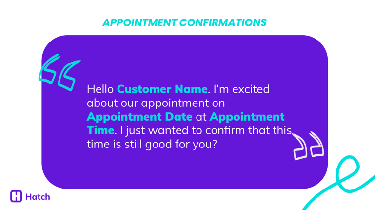 Appointment Confirmations 1