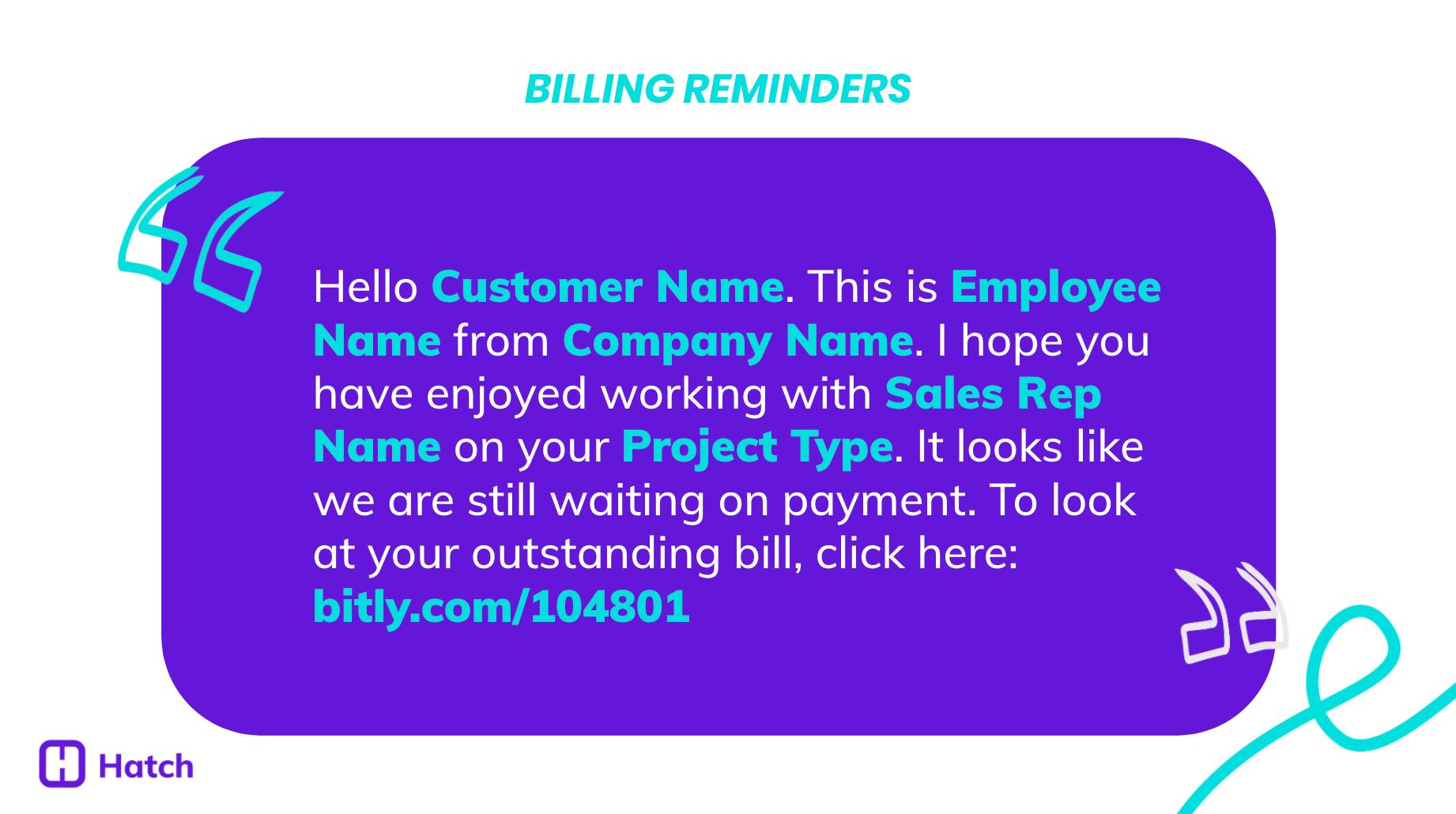 Billing Reminders