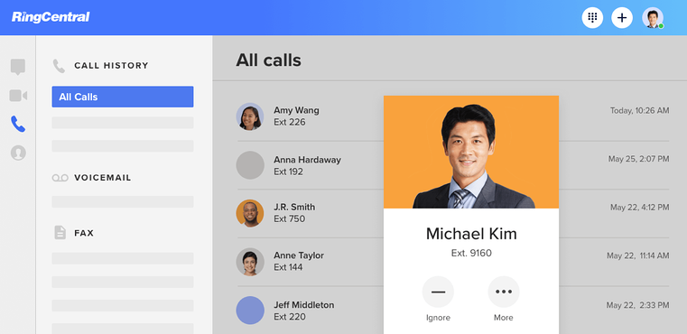 making a call ringcentral